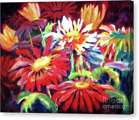 Red Floral Mishmash Canvas Print