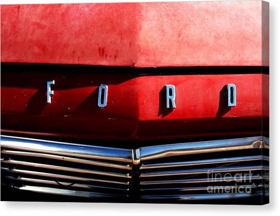 Red Ford 1 Canvas Print by Kathlene Pizzoferrato