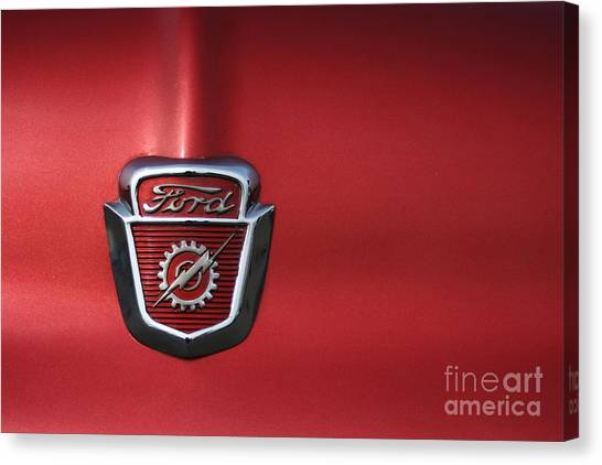 Red Ford 2 Canvas Print by Kathlene Pizzoferrato