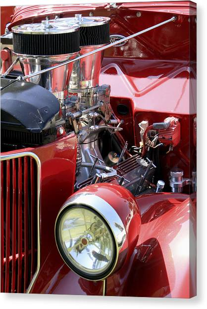 Canvas Print featuring the photograph Red Ford by Bob Slitzan