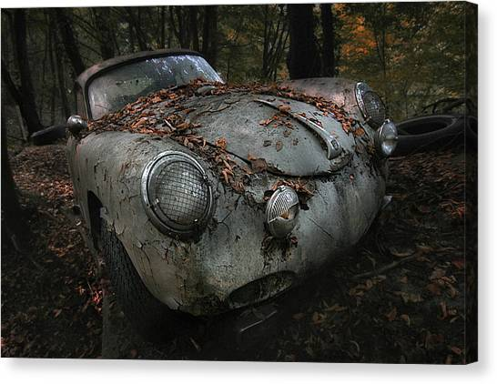 Decay Canvas Print - Red Forest by Holger Droste