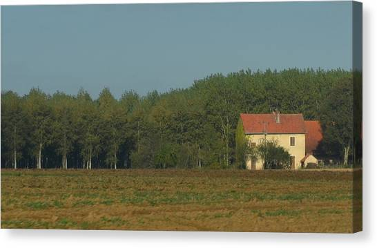 Red French Cottage Canvas Print