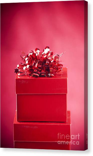 Christmas Box Canvas Print