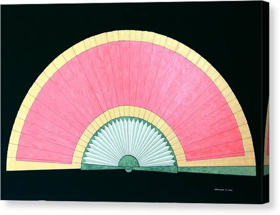 Red Gold Fan Canvas Print