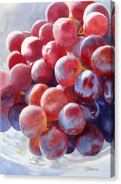 Grape Canvas Print - Red Grape Essence by Sharon Freeman
