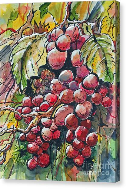 Red Grapes Canvas Print