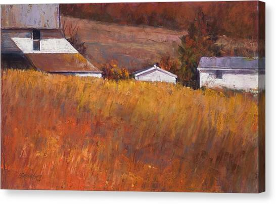 Red Grass Canvas Print by Beverly Amundson