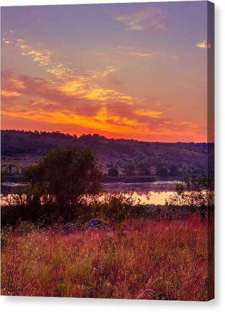 Red Grass Canvas Print