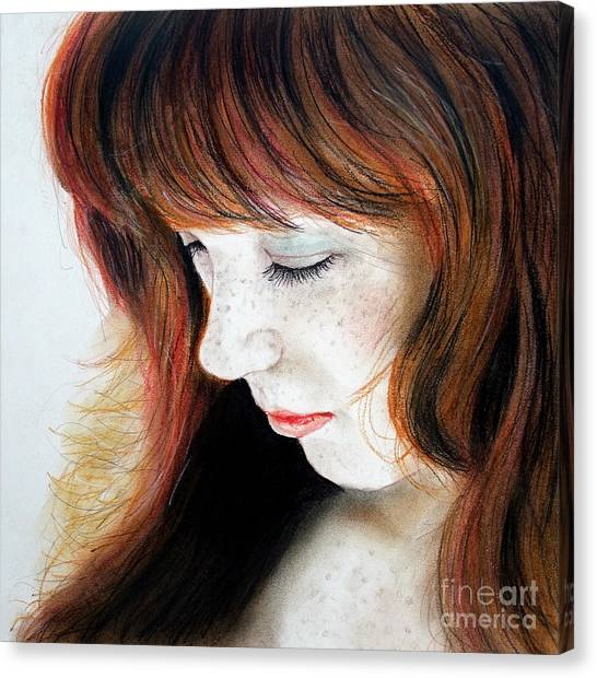 Lucy Liu Canvas Print - Red Hair And Freckled Beauty II by Jim Fitzpatrick