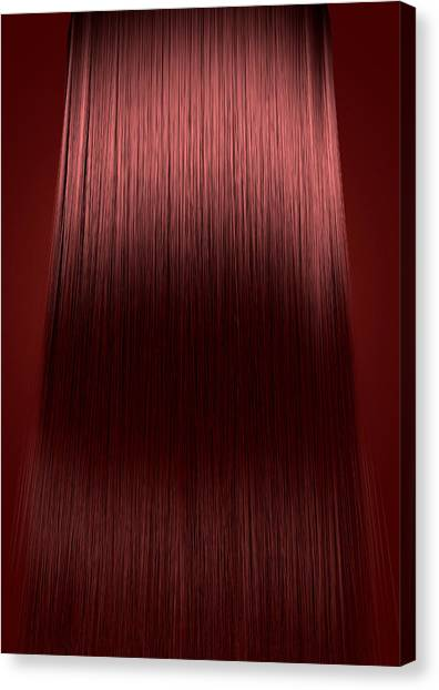 Hairstyle Canvas Print - Red Hair Perfect Straight by Allan Swart
