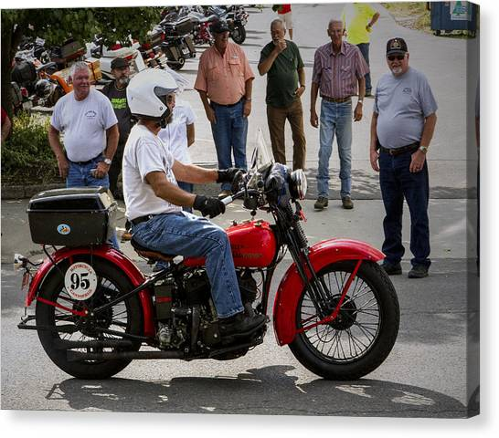 Red Harley 95 Canvas Print