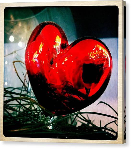 Hearts Canvas Print - Red Heart by Matthias Hauser