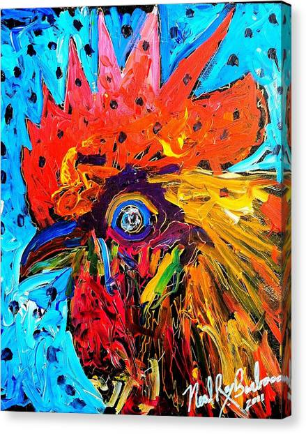 Red Hill Rooster Was Painted During Live Music Canvas Print