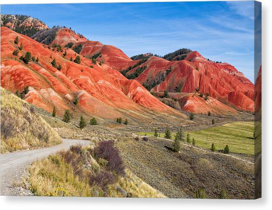 Bishop Hill Canvas Print - Red Hills Of The Gros Ventre by Kathleen Bishop