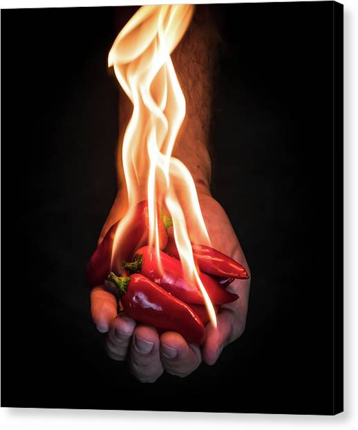 Pepper Canvas Print - Red Hot Chili Peppers by Mike Melnotte