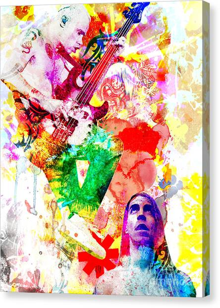 Fleas Canvas Print - Red Hot Chili Peppers  by Ryan Rock Artist