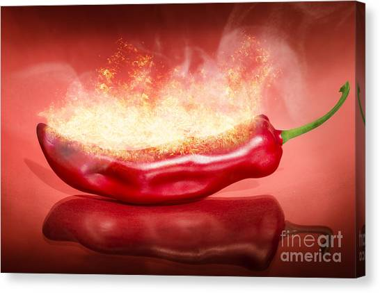 Ingredient Canvas Print - Red Hot Chilli Pepper by Jorgo Photography - Wall Art Gallery