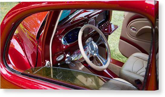 Red Hot Rod Interior Canvas Print