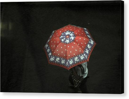 Red In The Dark Canvas Print by Achmad Bachtiar