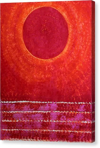 Red Kachina Original Painting Canvas Print