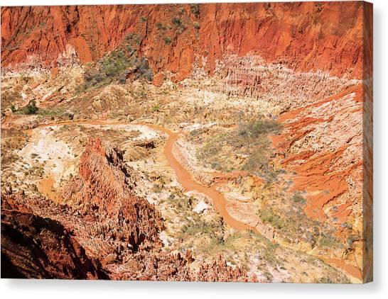 Karsts Canvas Print - Red Karst Limestone Landscape by Dr P. Marazzi