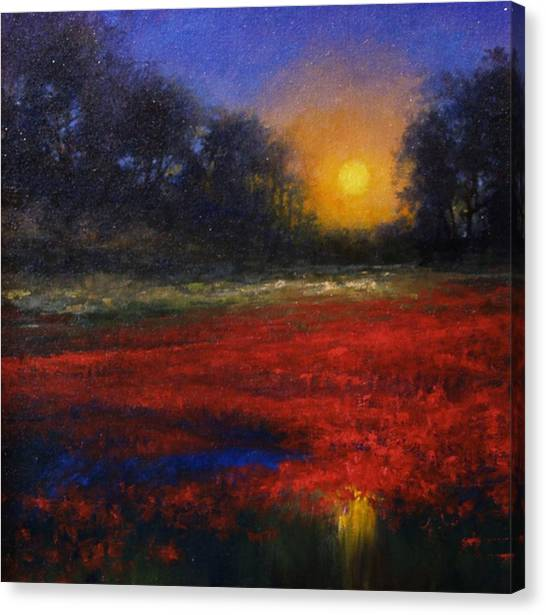 Canvas Print - Red Lagoon by Jim Gola