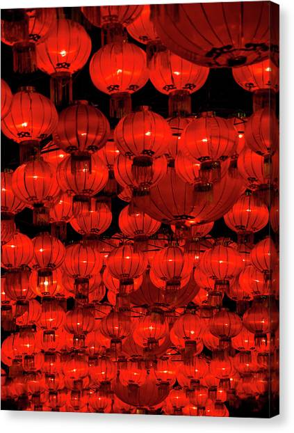 Chinese New Year Canvas Print - Red Lanterns by Dan Huntley Photography