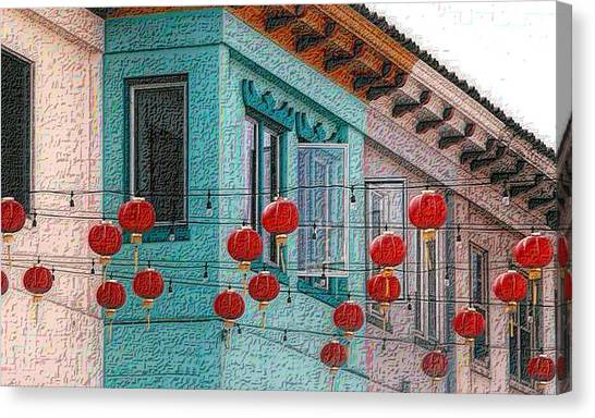 Red Lanterns Canvas Print