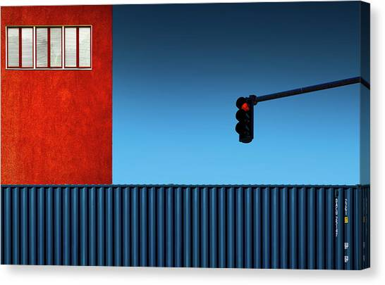 Traffic Canvas Print - Red Light by Inge Schuster