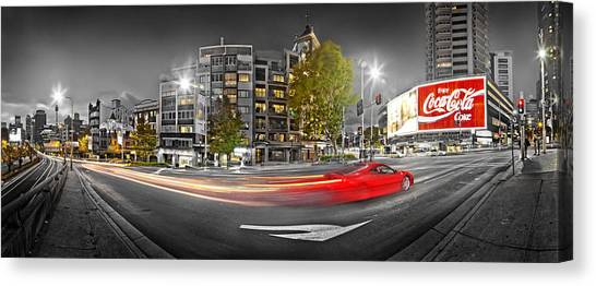 Coca Cola Canvas Print - Red Lights Sydney Nights by Az Jackson