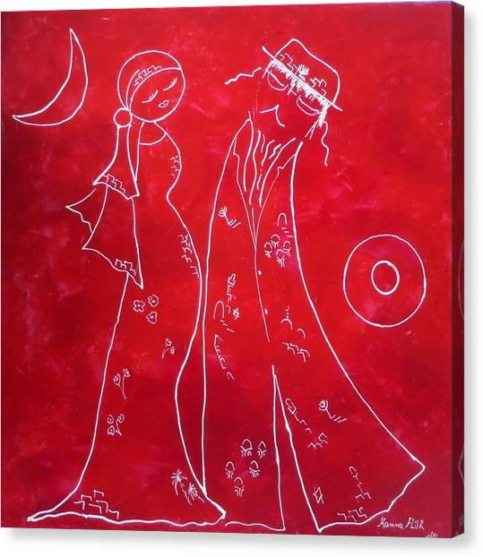 Red Love Canvas Print by Hanna Fluk