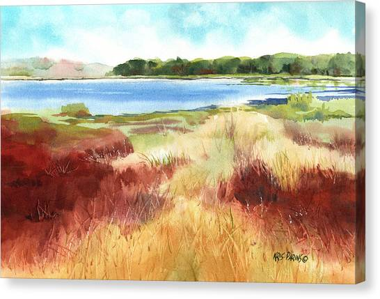 Red Marsh Canvas Print