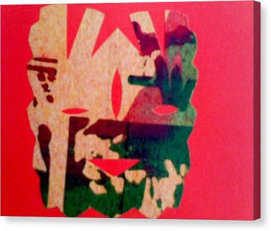 Red-mask Canvas Print by Dorothy Rafferty