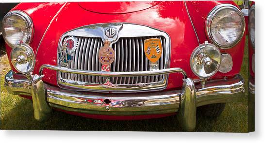 Red Mg Sports Car Canada Canvas Print