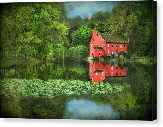 Red Mill Art Canvas Print