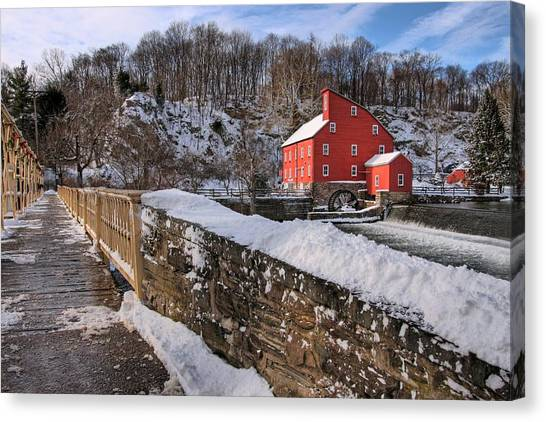 Red Mill Winter 2009 Canvas Print