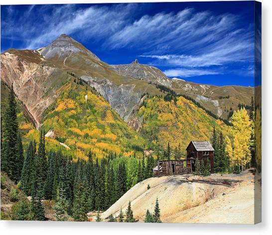 Red Mountain Mine Canvas Print by Robert Yone