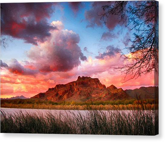 Red Mountain Sunset Canvas Print
