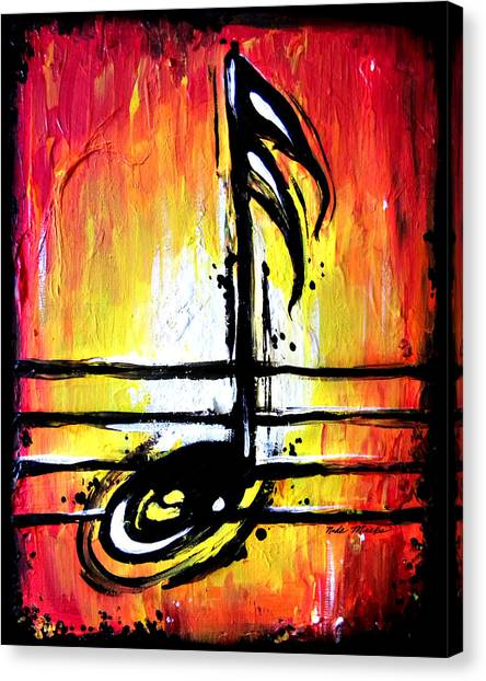 Red Note  Canvas Print