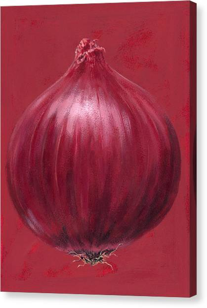 Vegetables Canvas Print - Red Onion by Brian James
