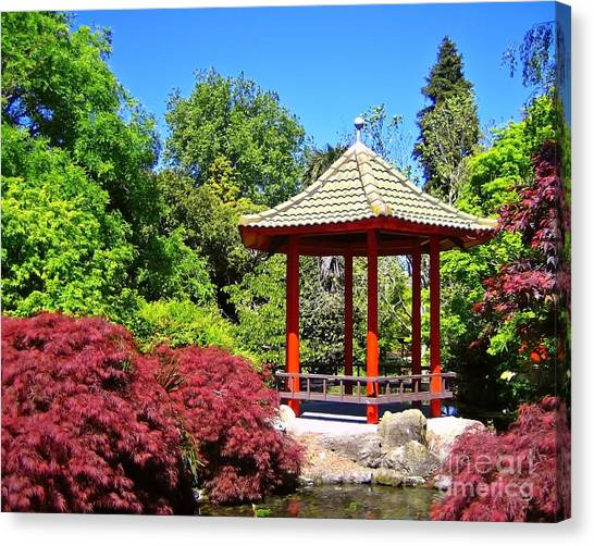 Red Pagoda Canvas Print