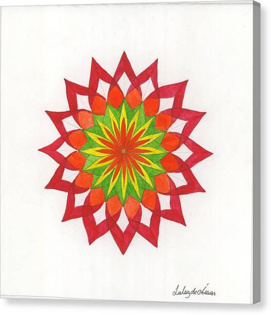 Red Passion Mandala Canvas Print by Silvia Justo Fernandez