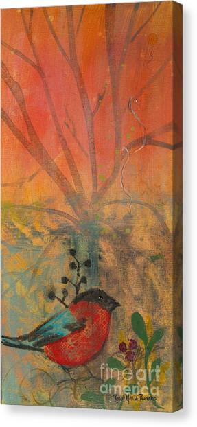 Red Peace Bird Canvas Print