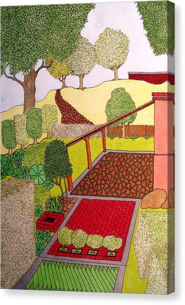 Red Planter Canvas Print