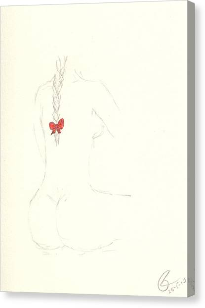 Red Ribbon Canvas Print by Paolo Marini