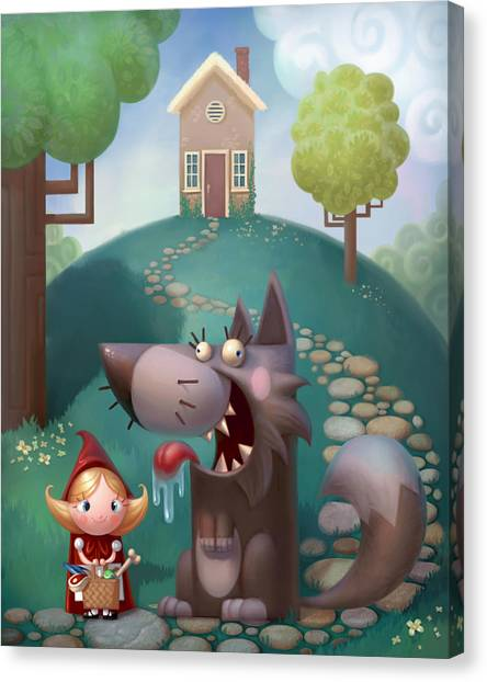Little Canvas Print - Red Riding Hood by Adam Ford