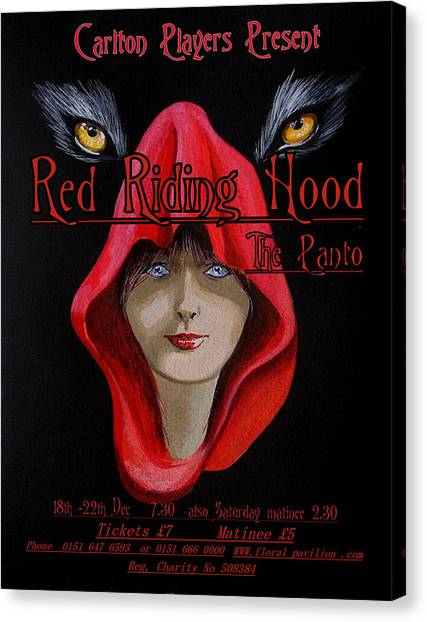 Red Riding Hood Canvas Print by Steve Jones