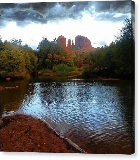 Red Rock Canvas Print - Red River Crossing - Sedona Views  by Peter Otto