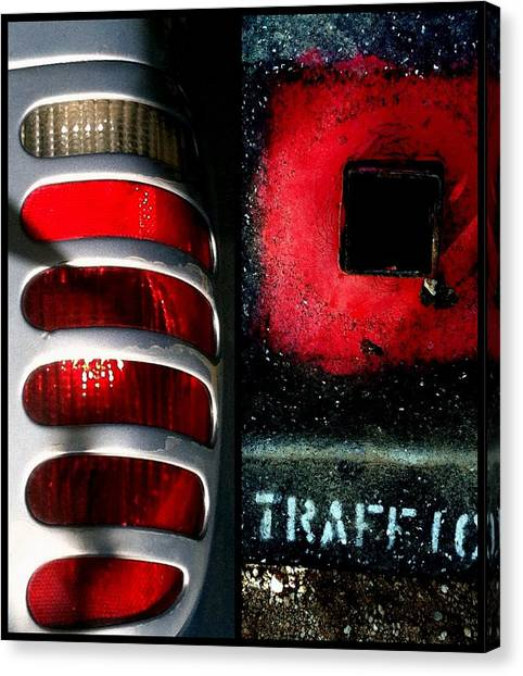 Red Road Rage Canvas Print