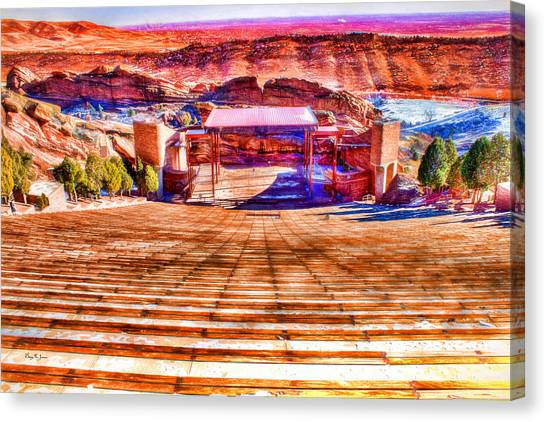 Colorado - Famous - Red Rock Amphitheater Canvas Print